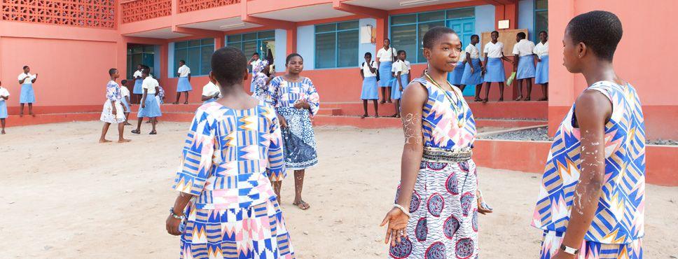 Schoolgirls of St. Catherine Senior High School in Ghana