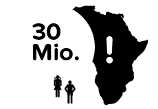 <p>In Sub-Saharan Africa alone there are more than 30 million children who have no opportunity to go to school</p>